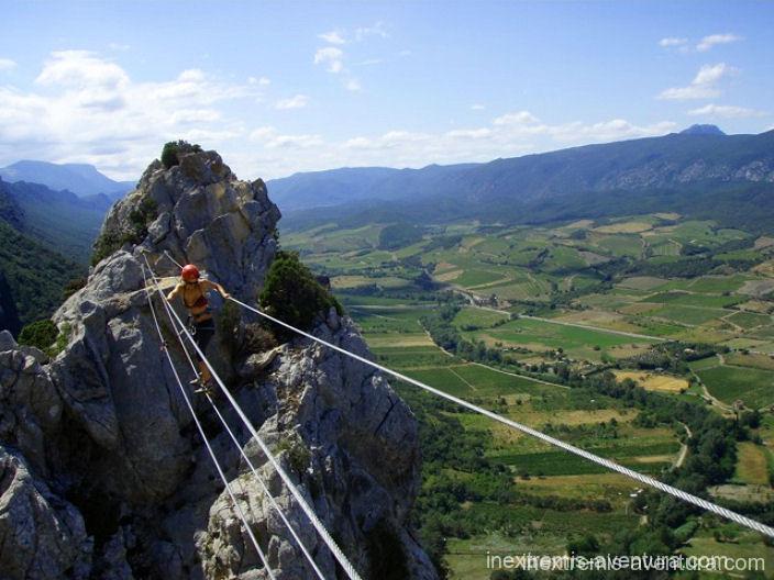 Via Ferrata La Panoramique Saint Paul de Fenouillet - Pyrénées Orientales