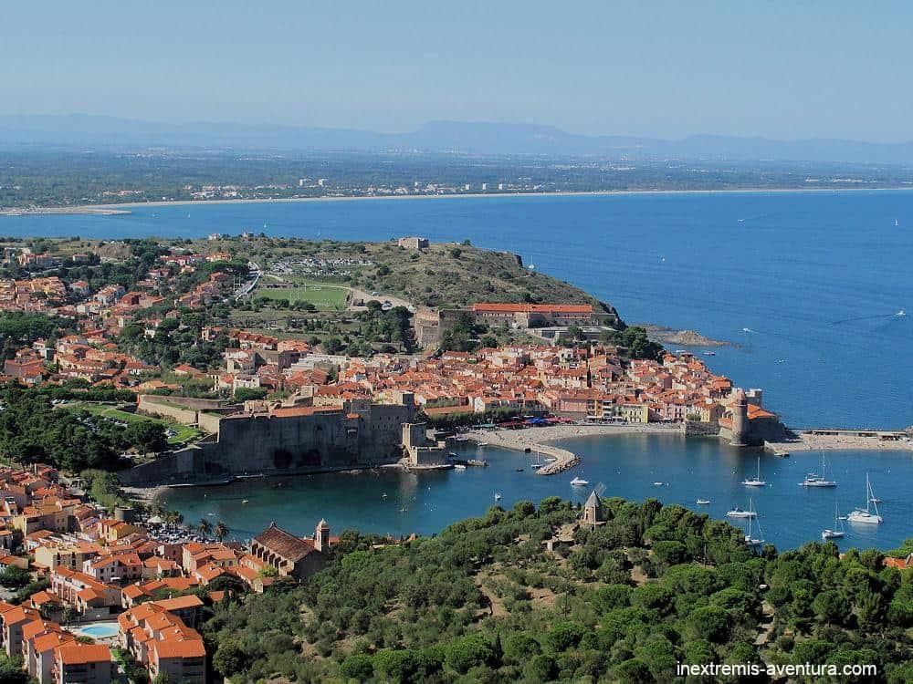 Rando Collioure Cadaquès en liberté - vue de Collioure depuis le Fort Saint Elme