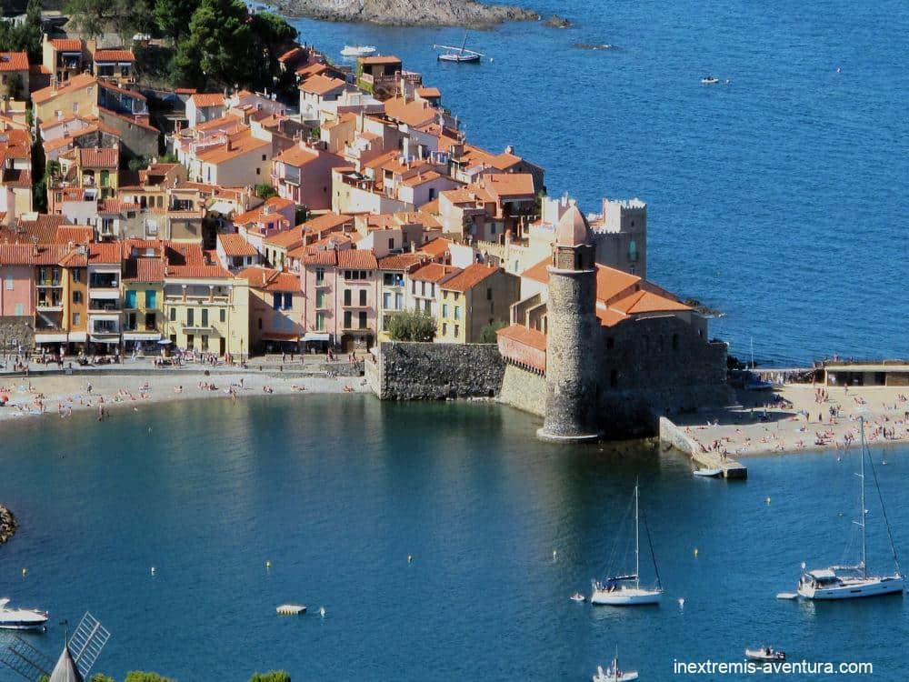 Rando Collioufe Cadaquès en liberté - vue de Collioure